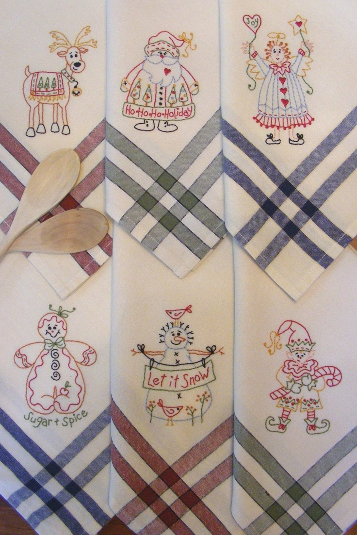 17 best images about tea towel embroidery on pinterest - Free embroidery designs for kitchen towels ...