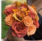 Aranajamente florale buchet mireasa in culori de toamna