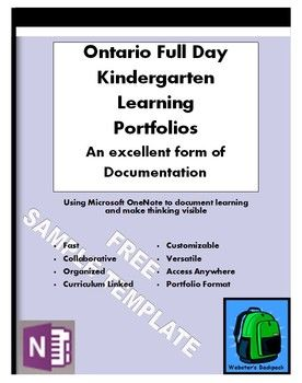 Sample Ontario Full Day Kindergarten Learning PortfolioTemplate