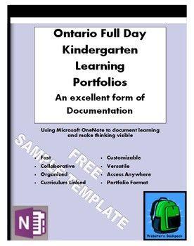 Sample Ontario Full Day Kindergarten Learning PortfolioTemplate