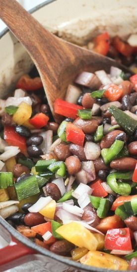 Mexican Three Bean and Three Pepper Salad | Recipe