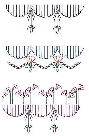 Крейзи-швы, узоры для вышивания.  Crazy stitches, patterns for embroidery