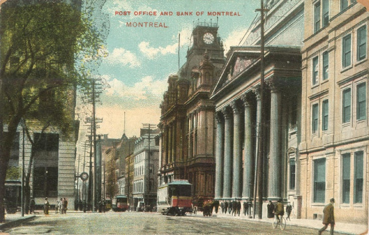 Montreal 1800s ~ Post Office and Bank of Montreal