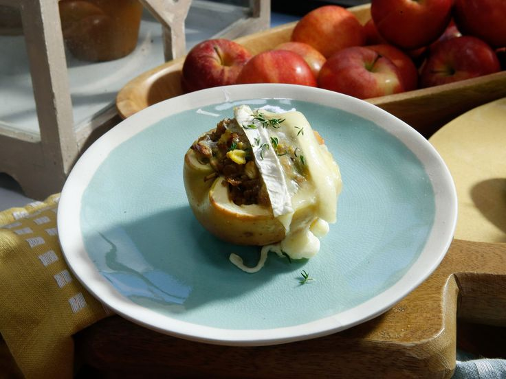 Sausage and Sage Apple-Stuffed Apples recipe from Jeff Mauro via Food Network