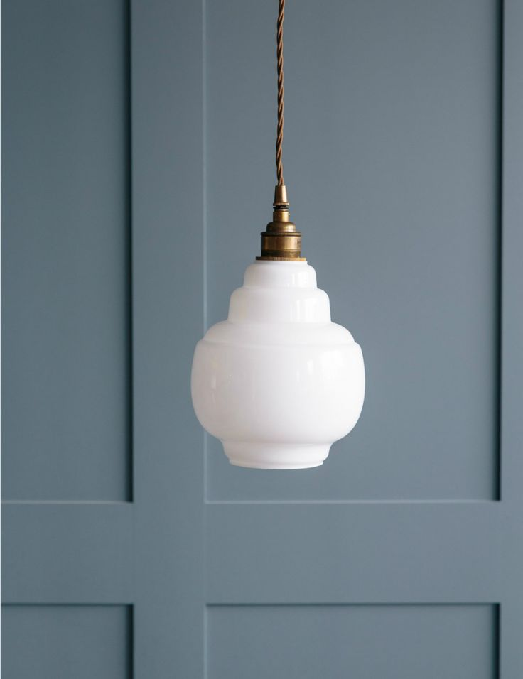 Opal Glass Pendant Light - Small
