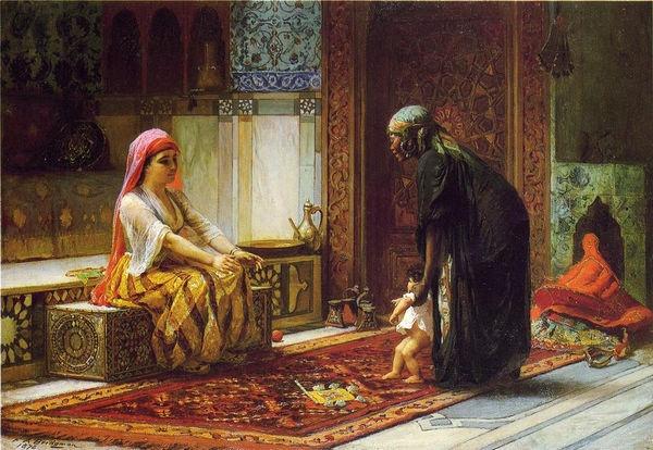 Mother and Child by Frederick Arthur Bridgeman