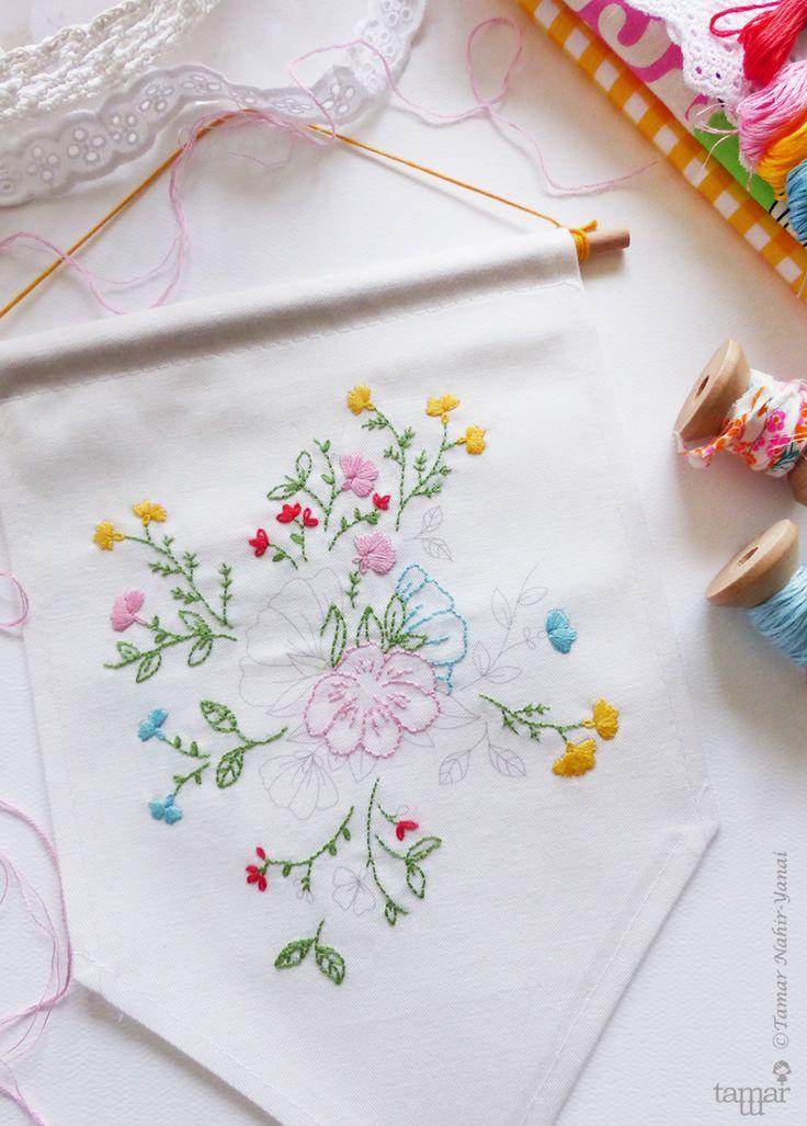 ערכת רקמה קטנה Bouquet of flowers   תמר נהיר ינאי   מרמלדה מרקט