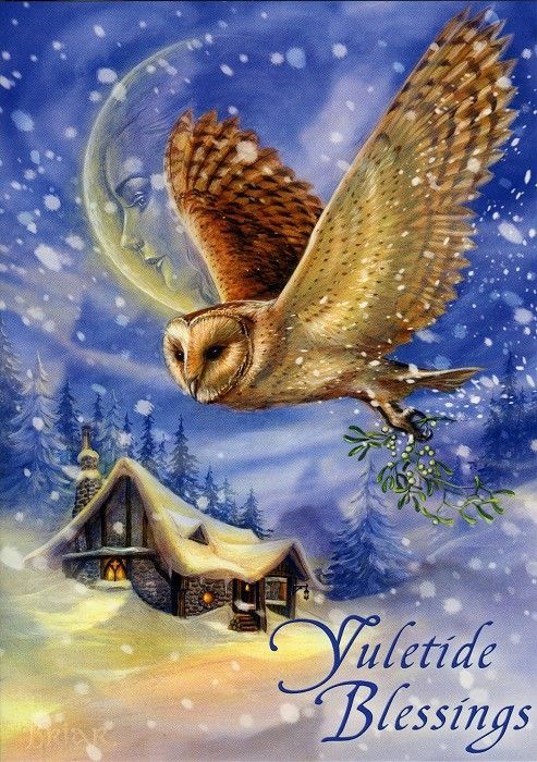 The Snow Bringer Christmas Card - Yule/Winter Solstice - Cards by Occasion / Recipient - Home - Fairy and gothic cards, new age/pagan cards,...