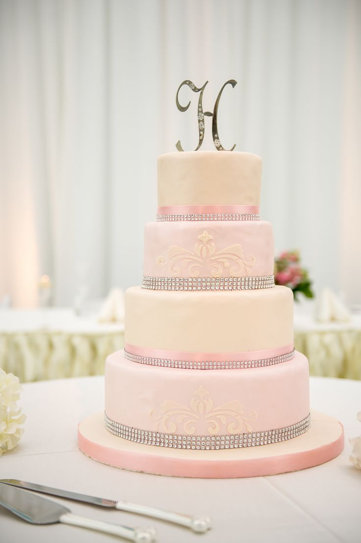 Blush Pink and Champagne Cake  www.aboccasiondesign.com