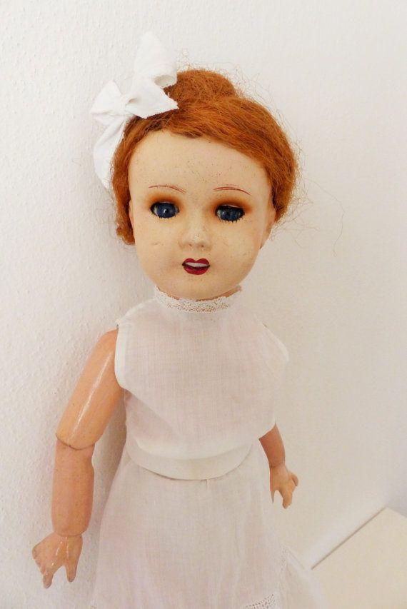 Antica bambola composizione. Bambola francese. di bamboleantiche, €198.00