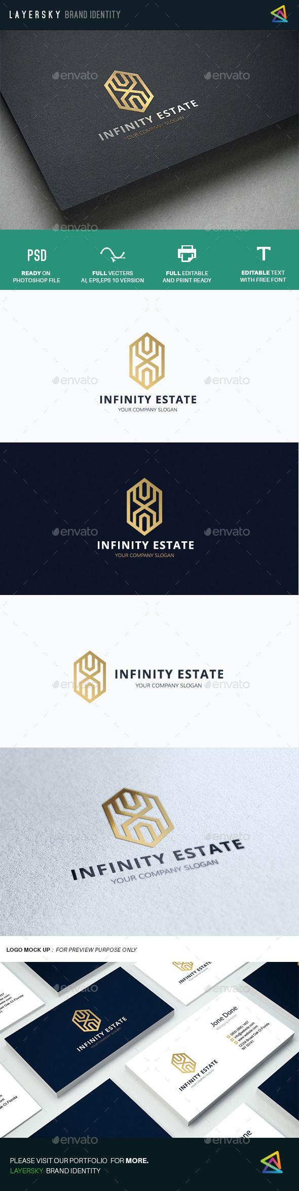 Infinity Real Estate Logo Template #design #logotype Download: http://graphicriver.net/item/infinity-real-estate/12646951?ref=ksioks