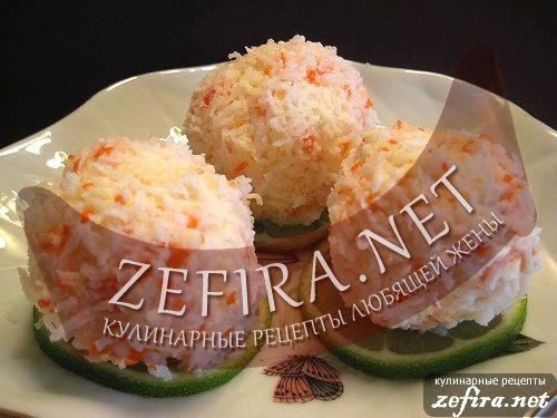 Закуска «Рафаэлки» из крабовых палочек — Кулинарные рецепты любящей жены