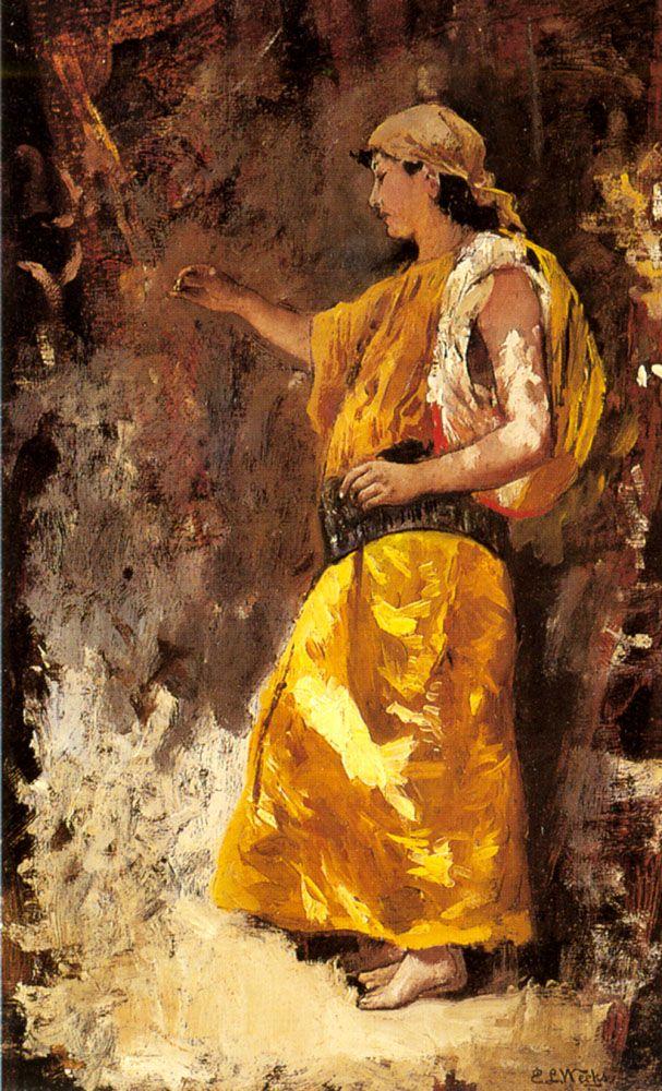 Edwin Lord Weeks - Standing Arab Woman