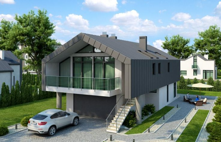Projekt domu z poddaszem STROJNÓW (DM-6505)