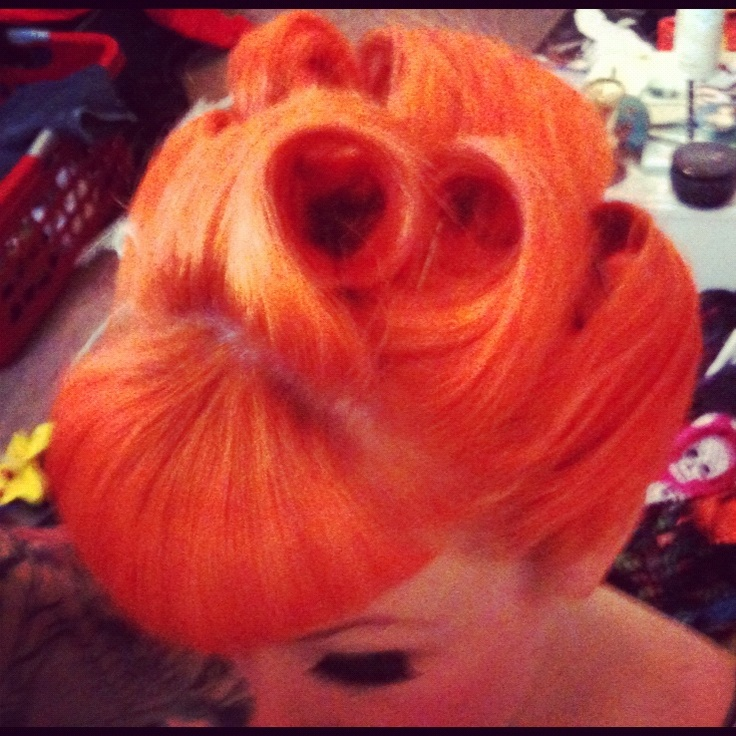 Pin Up Up Do Hair Pinup Red Our Dry Shop Styles