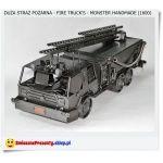 Duży model wozu strażackiego Fire Truck's monster Handmade