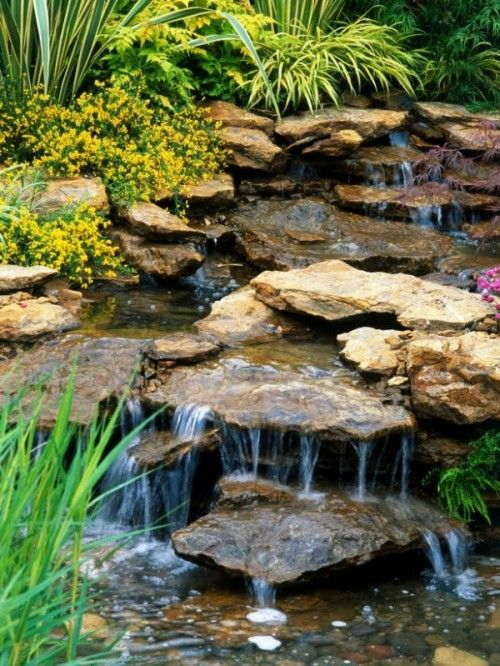 22 best rock water fall dry images on pinterest