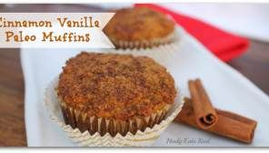 Cinnamon Vanilla Paleo Muffins