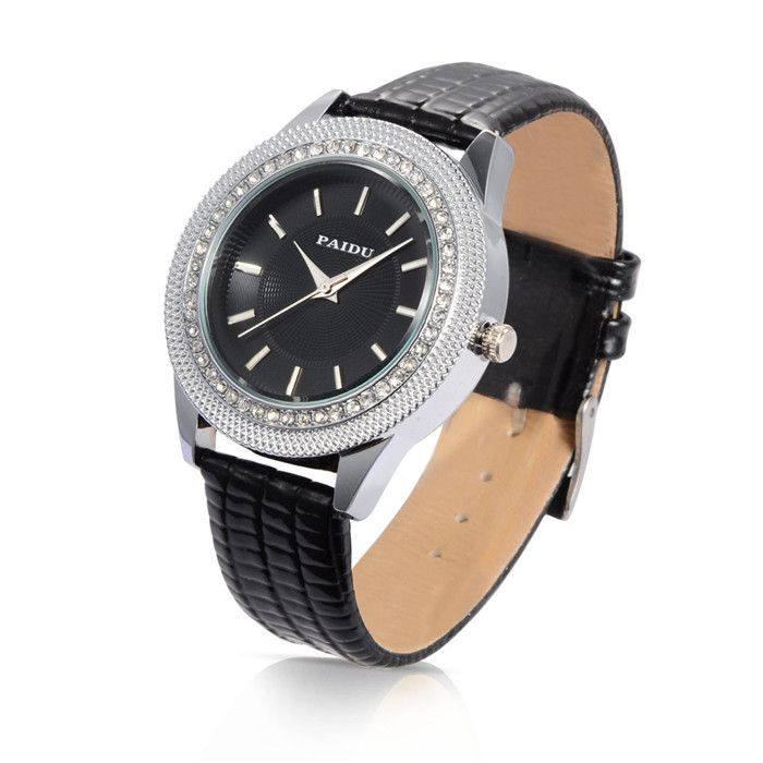>> Click to Buy << Black Women Watches Leather Diamond-studded Quartz WristWatch Fashion Casual Watch for Ladies Relogio Feminino #Affiliate