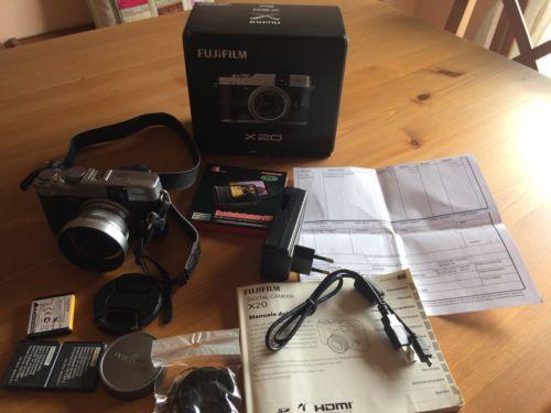 Fujifilm Fuji X20 Silver Macchina Fotografica Digitale Ed Accessori in Fotografia e video, Fotocamere digitali | eBay