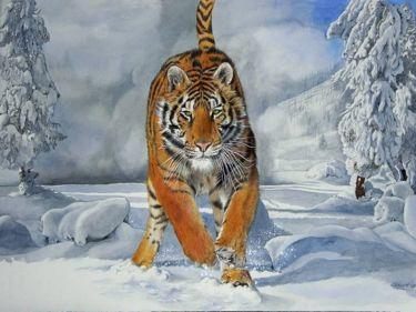 REGINA DELLE NEVI  painting  acquerello  50x70cm. by VALENTINO CAMILETTI