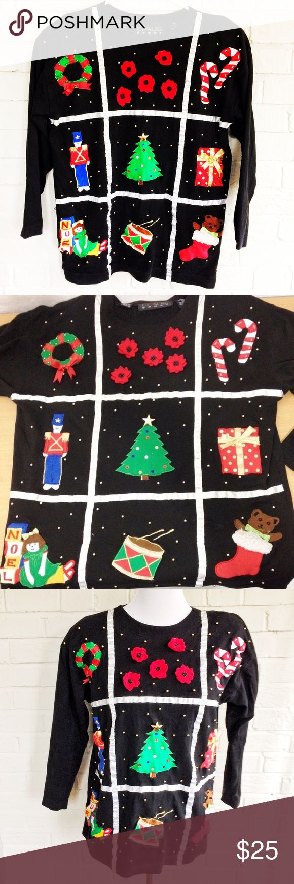 The Ugliest Christmas Sweater In All The Land Make an offer! Has shoulder pads as the cherry on the sundae! No trades. Bundle and save - I'm a fast shipper! chaus Sweaters Crew & Scoop Necks