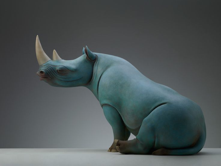Surreal Animal Sculptures Carrying Monumental Elements of Nature by Wang Ruilin