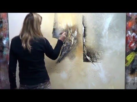 "Demonstration of Abstract Painting (13) Elisabeth – Canvas ""Evolution"" – YouTube"