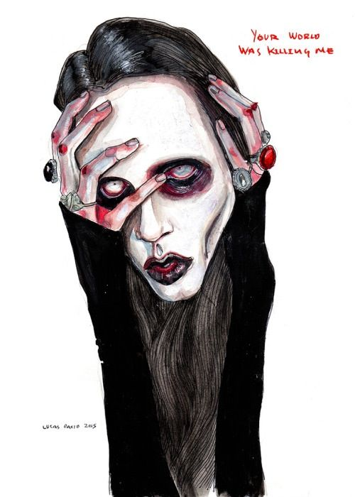 Image of Marilyn Manson Signed art prints