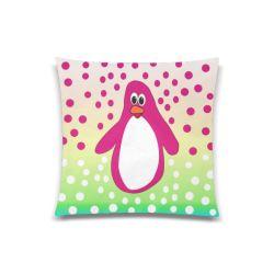 "CVAn0052 Pink Penguin Custom Zippered Pillow Case 20""x20""(One Side)"