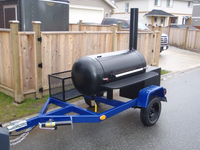 how to build a smoker grill trailer