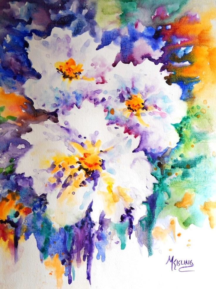 COLORFUL TRIO, by Martha KislingArt Watercolors, Watercolors Martha, Watercolors Floral, Colors Trio, Fine Art, Martha Kisling, Water Colors, Watercolors Flower, Floral Watercolors