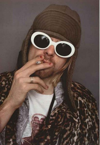 An awesome portrait poster of Nirvana's Kurt Cobain in all of his alternative glory! What a weirdo...in a good way! Fully licensed. Ships fast. 24x35 inches. Come as you are and check out the rest of