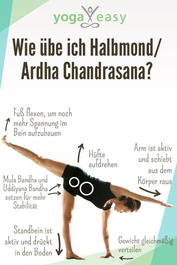 Asana des Monats: Ardha Chandrasana – Halbmond – YogaEasy – dein Online-Yogastudio