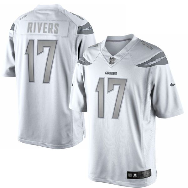 Philip Rivers Los Angeles Chargers Nike Platinum Limited Jersey - White - $159.99