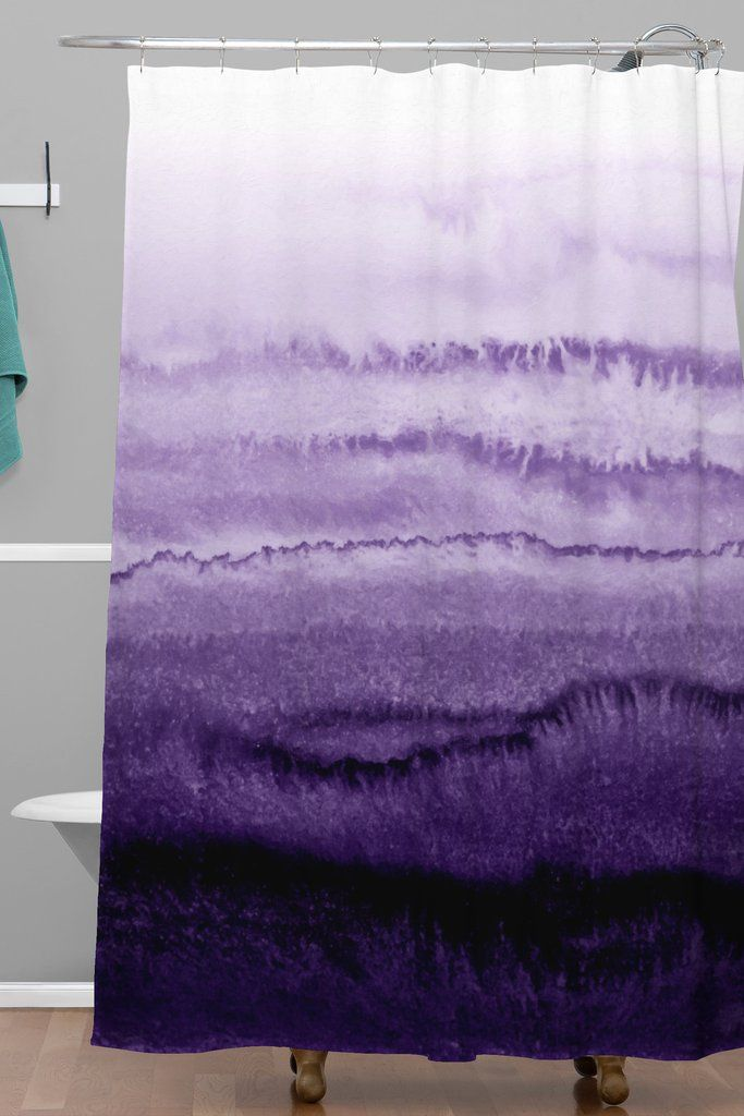 Monika Strigel WITHIN THE TIDES LAVENDER FIELDS Shower Curtain | DENY Designs Home Accessories