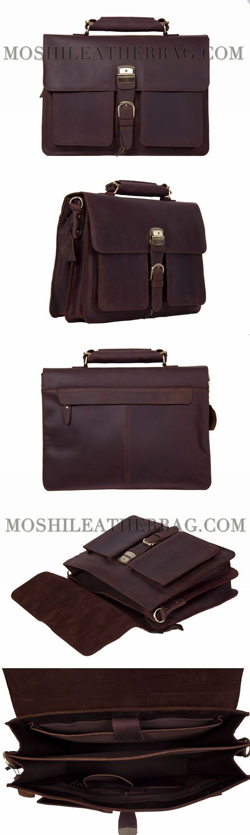 HANDMADE ITALIAN FULL GRAIN VINTAGE BROWN LEATHER BRIEFCASE MEN MESSENGER BAG LAPTOP BAG 1031