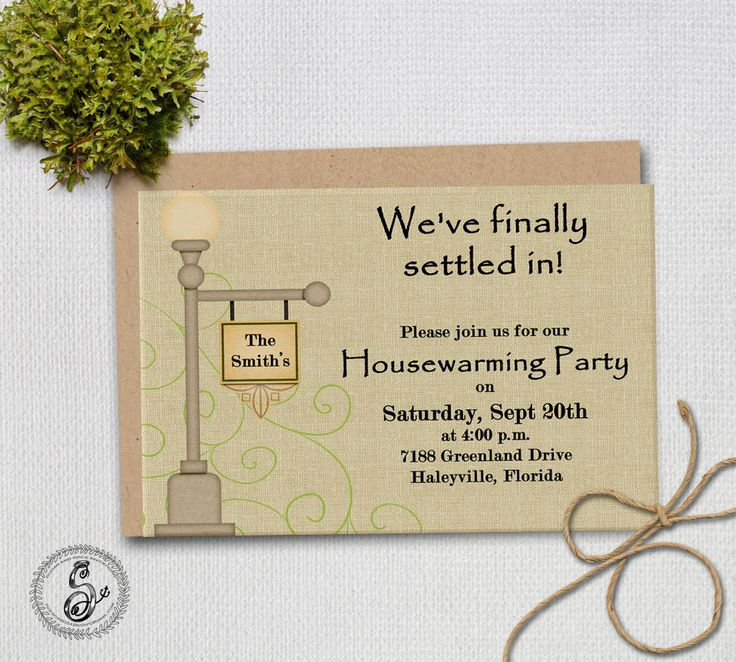 House Warming Invitation New House by SugarSpiceInvitation on Etsy