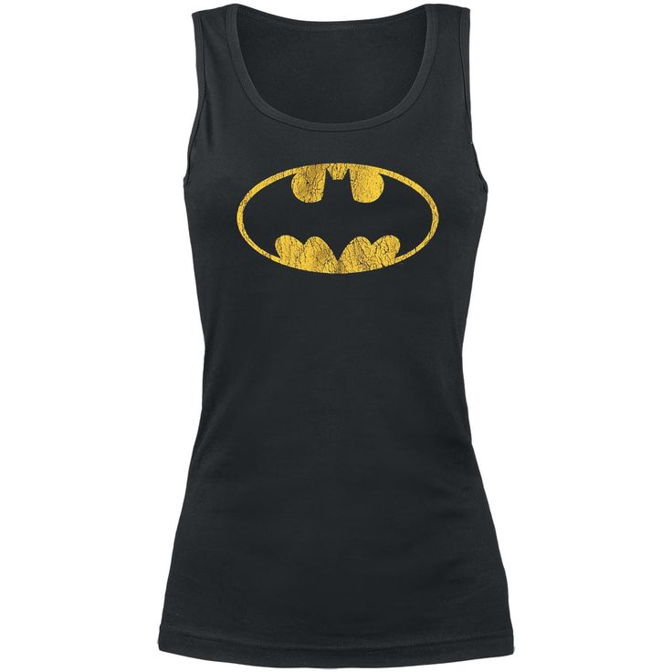 Na Na Na Na, Batman!  On the black girls top you can see the yellow logo of Batman on the front, alias Bruce Wayne, printed in vintage-style. The top is made of 100% cotton.