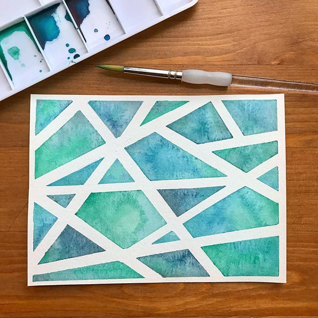 A Little Watercolor Project I Love Playing With Masking Tape Over