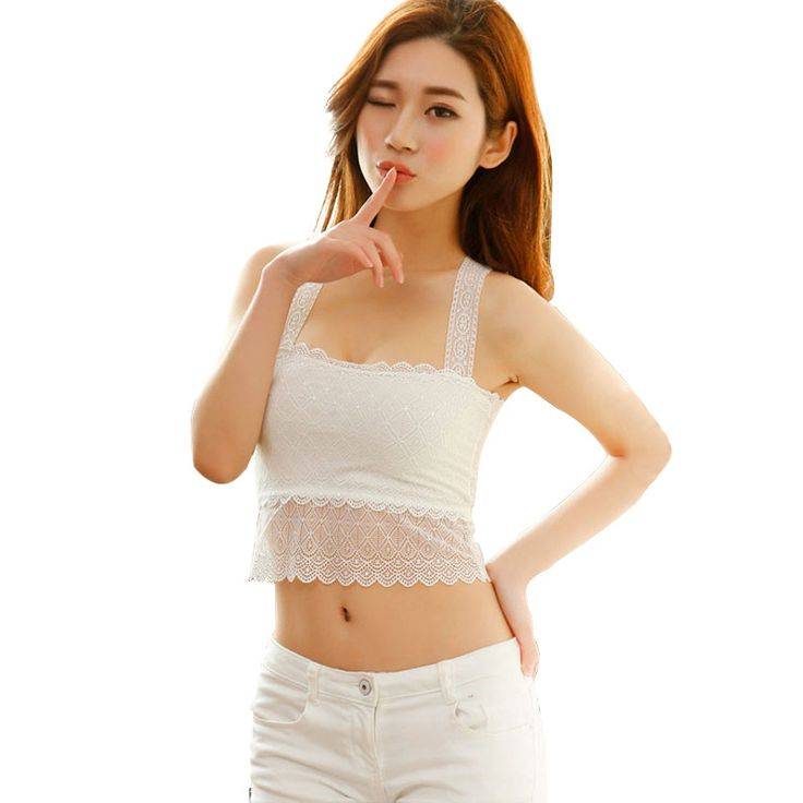 Find More Tube Tops Information about 2016 Women's Summer Lace Sexy Backless Top Short Slim High Elastic Ladies Girls Spaghetti Strap Bra Boob Tube Tops,High Quality bra size converter china,China bra charms Suppliers, Cheap bra pad from Riky_mall on Aliexpress.com