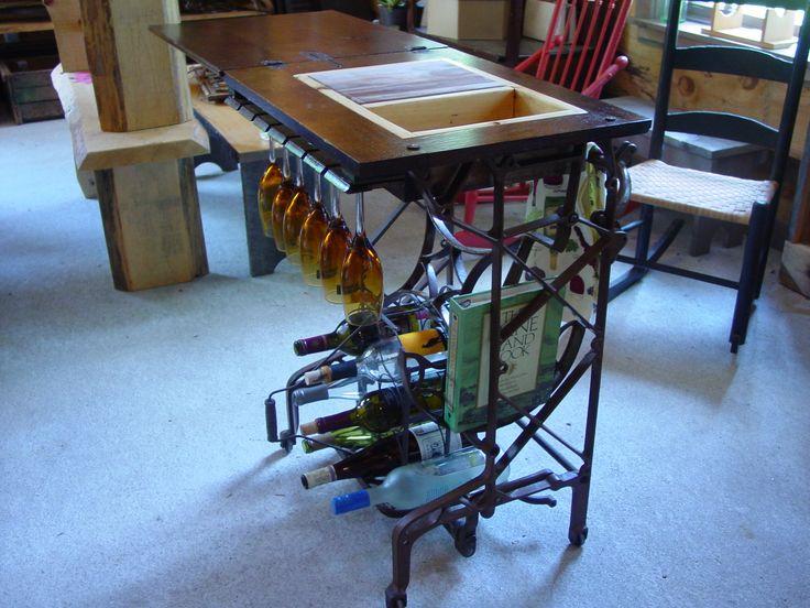 Singer Sewing Machine Repurposed