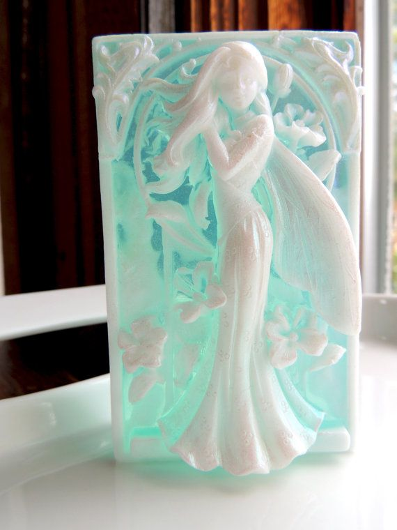 FAIRY SOAP Aqua Blue and White Fairy Princess by thecharmingfrog