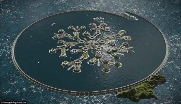Строительство первого в мире плавучего города начнётся уже в 2019 году необычное, город на воде, Французская Полинезия, архитектура, видео, длиннопост