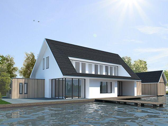 architect modern huis - moderne woning in Loosdrecht