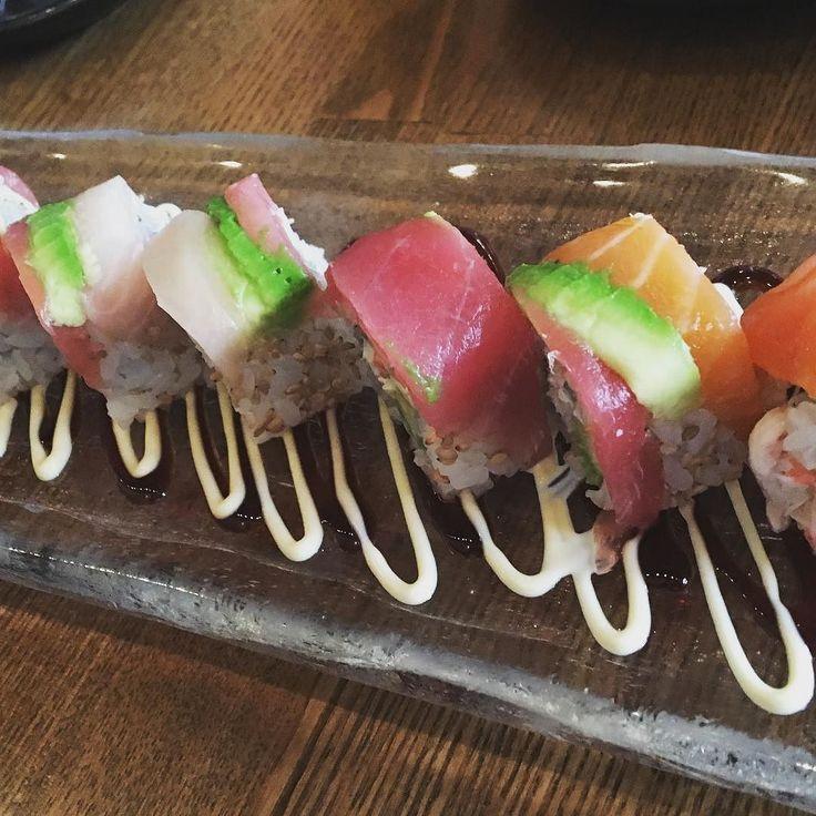 Some nice rainbow  sushi  #sushi #rainbowsushi #ginto #gintoizakayajaponaise #japaneesefood #sanfrancisco