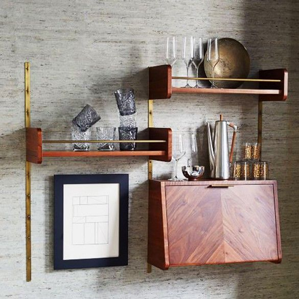 The Best New Fall Décor to Shop Now // West Elm Midcentury Shelving