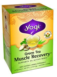 Green Tea Muscle Recovery 16 bags Dietary Supplement Stay active with a cup of Green Tea Muscle Recovery. Our satisfying blend starts with gently stimulating Organic Green Tea which supplies antioxida