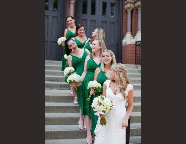 Robe temoin de mariage vert anis