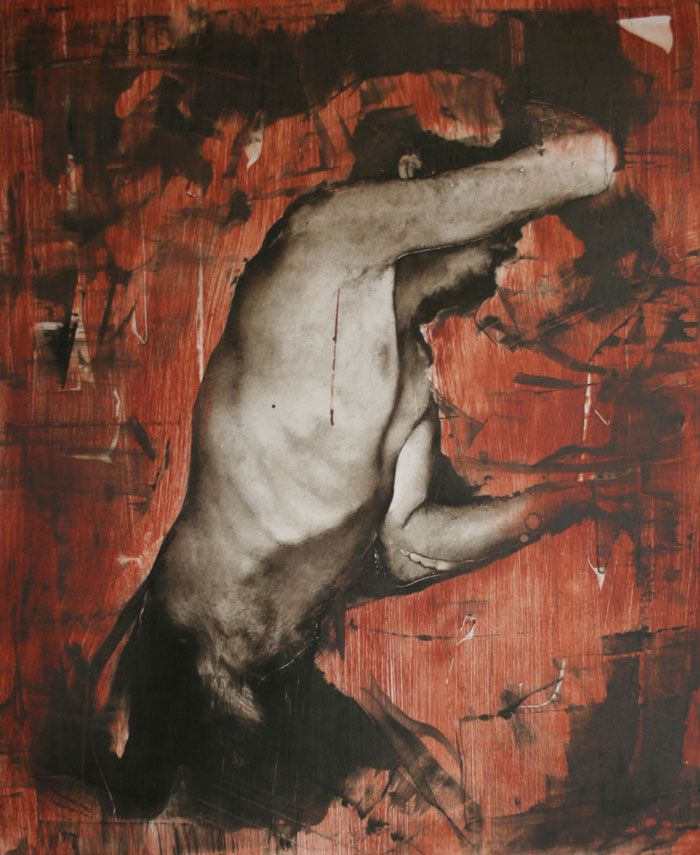 Tomas Watson - An Endless Bleeding-  study of a figure on red